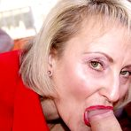 Fourth pic of Mature lady in ff nylons caresses herself and gives nice blowjob to her BF