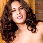 Fourth pic of Latina Sally slides off dress and strips naked