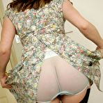 Second pic of Mature in nylons and busty in see through panties