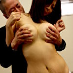 Second pic of Brunette Sayuri Mikami gives head and titjob