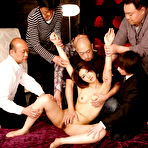 Third pic of Gorgeous Julia Nanase gets in hot group sex