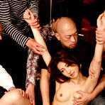 Fourth pic of Gorgeous Julia Nanase gets in hot group sex