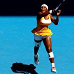 Second pic of Serena Williams at Australian Open 2010 courts in Melburn