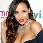 First pic of Dania Ramirez busty in revealing black dress at 2015 A&E/Lifetime Networks Upfront in NYC