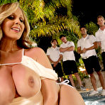 Fourth pic of Julia Ann Lusty Cougar Bares Big Boobs at the Hot Tub