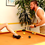 First pic of Heather Vahn Brunette with Great Rack has Pool Table Sex