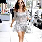 Second pic of Kate Walsh see-through to bra and leggy while leaving Medical Building in Beverly Hills