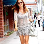 Third pic of Kate Walsh see-through to bra and leggy while leaving Medical Building in Beverly Hills