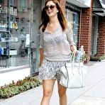 Fourth pic of Kate Walsh see-through to bra and leggy while leaving Medical Building in Beverly Hills