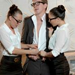 First pic of Alaina Fox Office Threesome