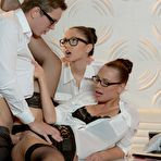 Second pic of Alaina Fox Office Threesome