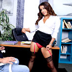 Second pic of        Mila Marx bangs the guy who came in for a job interview
