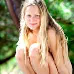 Third pic of abbywinters.com: Alena - Busty blonde amateur with freckles stripping in a tree at Brdteengal.com