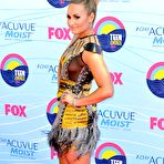 Third pic of Demi Lovato legs and see through at 2012 Teen Choice Awards