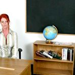 First pic of Dumb college guy bends over for his red-haired teacher Kayla Cam and gets spanked on his ass