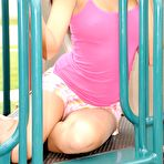 Second pic of Fresh teen Cierra Spice flaunts her titties and pussy on playground - XBabe