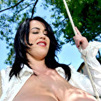 Second pic of Leanne Crow BBW Knockout Exposes Huge Boobs Outdoors