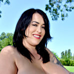 Fourth pic of Leanne Crow BBW Knockout Exposes Huge Boobs Outdoors