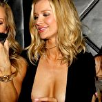 First pic of Joanna Krupa hot wardrobe malfunction in black low cut sheer dress at Mynt Lounge in Miami