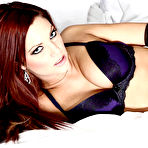 First pic of Jayden Cole Smokin' Hot Busty Redhead in Purple Satin Panties