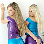 Second pic of Lesbian Latex Babes Playing - FilmLatex.com Latex Fetishes