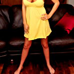 First pic of Low cut yellow dress is all about teasing you with those big tits - XBabe