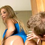 Fourth pic of Blonde MILF Sara Jay showing off big booty while giving blowjob – Nude Women Pics