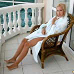 First pic of Fantastic young broad relaxing on her balcony - XBabe