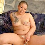 Second pic of Chubby Loving - Ugly Bald Plumper Spreading Pussy