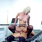 Fourth pic of  					Stockings clad blonde mom Brooke Brand fucking in a hospital - Pornstar Movies