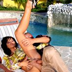 Fourth pic of Angelika Black Banging the Lucky Pool Guy - Black Angelika