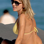 Second pic of Rita Rusic sexy in yellow bikini on the beach in Miami