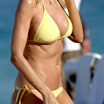 Third pic of Rita Rusic sexy in yellow bikini on the beach in Miami