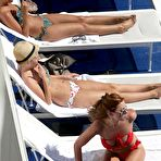 First pic of Girls band Saturdays relax in bikini by the pool in Hollywood