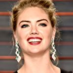 First pic of Kate Upton flaunting her huge boobs in a low-cut black dress at the 2016 Vanity Fair Oscar Party in Beverly Hills