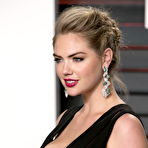 Second pic of Kate Upton flaunting her huge boobs in a low-cut black dress at the 2016 Vanity Fair Oscar Party in Beverly Hills