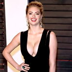 Third pic of Kate Upton flaunting her huge boobs in a low-cut black dress at the 2016 Vanity Fair Oscar Party in Beverly Hills