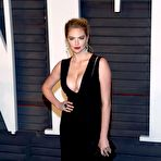 Fourth pic of Kate Upton flaunting her huge boobs in a low-cut black dress at the 2016 Vanity Fair Oscar Party in Beverly Hills