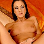 Fourth pic of Tattooed euro babe Destiny bares it all and has a good time with veiny dildo