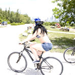 First pic of Ava Rose: Ava Rose strips her bicycling... - BabesAndStars.com