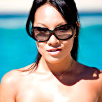 Fourth pic of Asa Akira Curvy Asian Hotbod Strips to her Sunglasses and Nothing Else