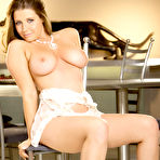 Second pic of Erica Campbell Strips in White Lace Lingerie