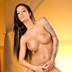 Fourth pic of Angelina Valentine Big Boobed Bad Girl Works her Fingers