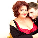 Third pic of Big breasted chubby mature lady and her younger lover -Granny Seduction