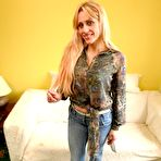 First pic of Blonde milf Brittany Bardot gets deepthroated and ass fucked out of her jeans and neon green undies