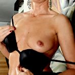 Second pic of Elegant older babe Melanie spreads her tight ass -Granny Seduction