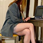 First pic of Office boss strips to stockings - Stockings Girdles