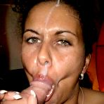 Second pic of CumOnWives - real amateur blowjobs and cumshots! Only MILFs!