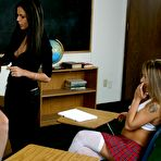 Third pic of Teacher Shy Love dildos tiny asshole of college girl in front of her classmates