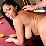 Fourth pic of        Moriah Mills gets her pussy poked on top of the pool table